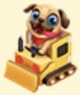 Cardboard Tractor Pug Handmade Burger Set Family Farm Seaside