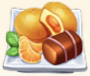 Tangerine Snack Set Family Farm Seaside