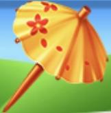 Yellow Drink Umbrella Family Farm Seaside